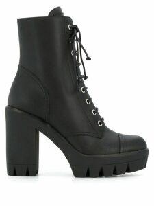Giuseppe Zanotti lace-up platform boots - Black