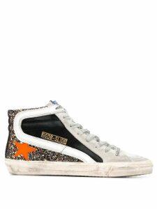Golden Goose glitter slide sneakers - SILVER