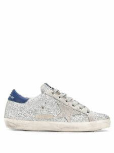 Golden Goose classic star glitter sneakers - Silver