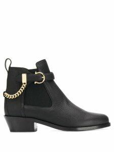 Salvatore Ferragamo Gancini ankle boots - Black