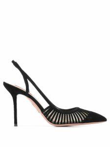 Aquazzura slingback stiletto heel pumps - Black