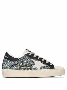 Golden Goose star glitter low-top sneakers - Metallic