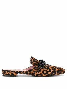 Macgraw Margot leopard print slip-on loafers - Brown