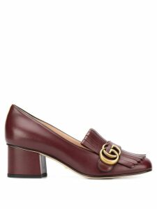 Gucci Double G fringed loafers - Red