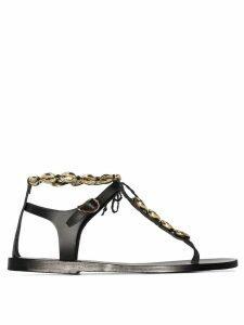 Ancient Greek Sandals Chrysso conch shell sandals - Black