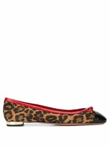 Aquazzura leopard print ballerinas - Brown