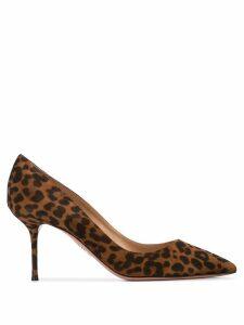 Aquazzura leopard print pumps - Brown