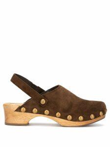 Tory Burch Blythe studded clogs - Brown