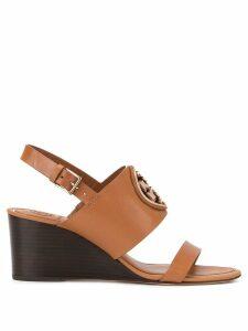 Tory Burch Metal Miller wedge shoes - Brown