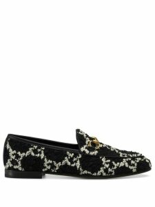 Gucci Jordaan Tweed Loafers - Black