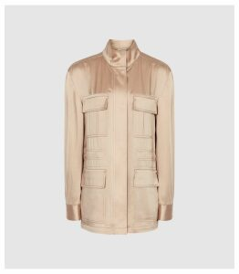 Reiss Blakely - Lightweight Utility Jacket in Neutral, Womens, Size 14