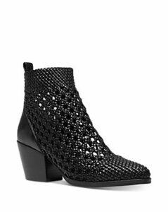 Michael Michael Kors Women's Augustine Woven Leather Booties