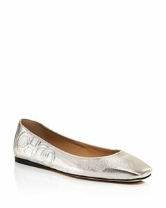 Jimmy Choo Women's Gwenevere Square-Toe Flats