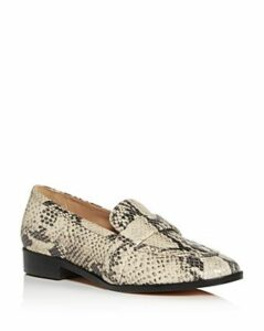Schutz Women's Romina Snake-Embossed Apron-Toe Loafers