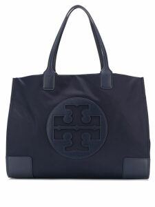 Tory Burch embossed logo tote - Blue
