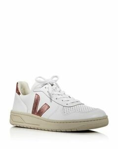 Veja Women's V-10 Leather Low-Top Sneakers