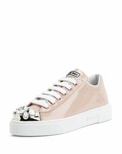 Miu Miu Women's Patent Leather Low-Top Sneakers