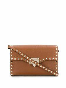 Valentino Valentino Garavani small Rockstud crossbody bag - Brown