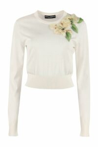 Dolce & Gabbana Embroidered Crew-neck Sweater