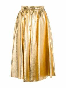 Msgm Metallic Pleated Skirt