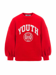Msgm Youth Print Sweatshirt