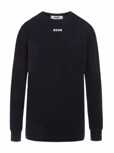 Msgm Logo Print Long Sleeves T-shirt