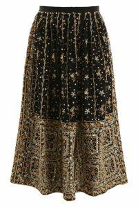 Ulla Johnson Embroidered Skirt