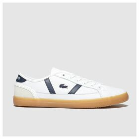 Lacoste White & Navy Sideline Trainers
