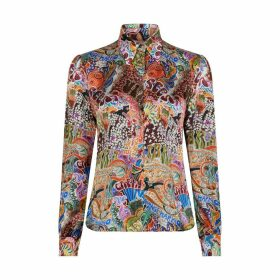 Tommy X Zendaya Satin Multi-Coloured Shirt