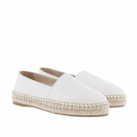 Prada Espadrilles - Summer Espadrilles Leather White - white - Espadrilles for ladies