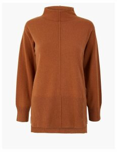 Autograph Pure Cashmere Stepped Hem Jumper