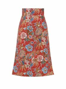 D'ascoli - Meadow Floral Print Cotton Blouse - Womens - Pink