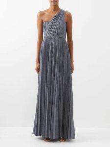D'ascoli - Suffolk Floral Print Cotton Dress - Womens - Blue