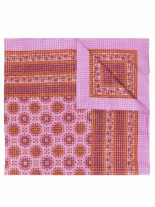 Yves Saint Laurent Pre-Owned check and paisley print shawl - PINK