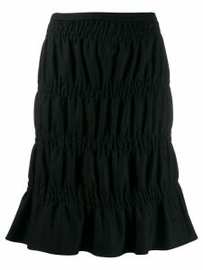 Romeo Gigli Pre-Owned 2000's gathered knee-length skirt - Black