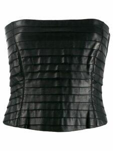 Giorgio Armani Pre-Owned 1990's layered tube top - Black