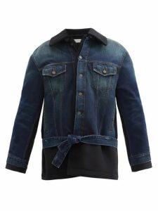 Chloé - Crinkled Flower-jacquard Midi Dress - Womens - Black