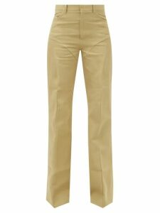 Miu Miu - Gathered Gingham Cotton Shirt - Womens - Blue Multi
