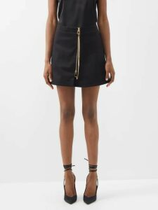 Chloé - Horse-embroidered Wool-blend Sweater - Womens - Navy Multi