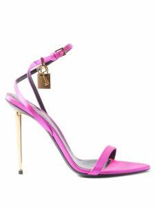 HVN - Maria Flamingo-print Silk Midi Dress - Womens - Blue