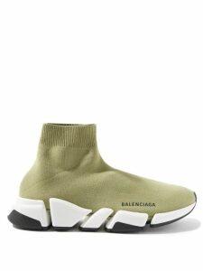HVN - Long Morgan Miami-print Silk-satin Dress - Womens - Light Pink