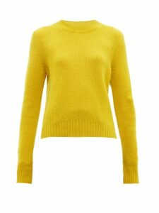 Bottega Veneta - Exaggerated-sleeve Cashmere-blend Sweater - Womens - Yellow