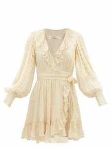 Rochas - Pamela Bow-front Cotton-poplin Blouse - Womens - Yellow