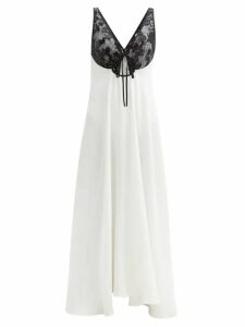 Miu Miu - Contrast Collar Fair Isle Camel Hair Sweater - Womens - Brown Multi