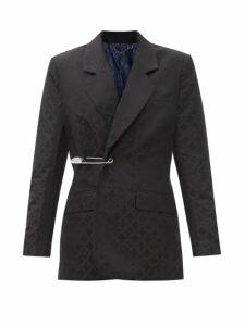Prada - Frankenstein-print Crystal-embellished T-shirt - Womens - Black Multi