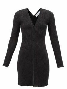Dolce & Gabbana - Ruffled Lilium-print Shantung Coat - Womens - Pink Multi