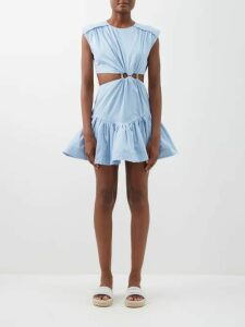 The Row - Leah Ribbed Cotton-blend Jersey T-shirt - Womens - Black