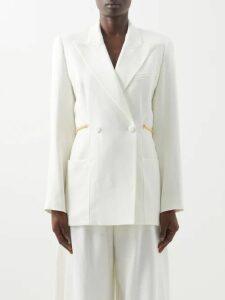 Jil Sander - Dolman Sleeve Wrinkled Twill Top - Womens - Dark Navy