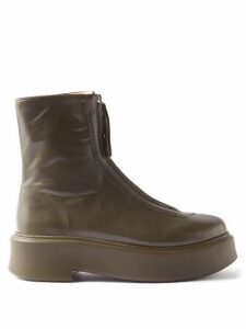 Jil Sander - Slit Roll Neck Ribbed Cashmere Blend Sweater - Womens - Dark Navy