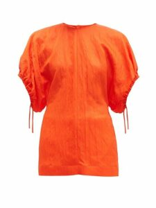 Jil Sander - Dolman-sleeve Wrinkled-twill Top - Womens - Orange
